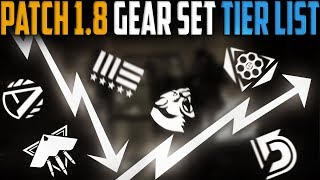 The Division | Patch 1.8 Gear Set Tier List | What to Farm/Play in 1.8