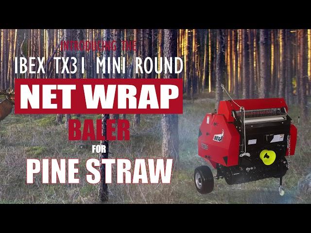 Ibex TX31 Mini Round Net Wrap Baler