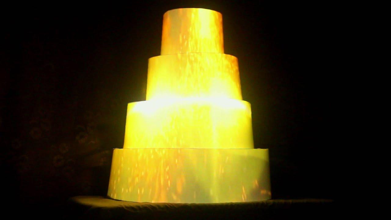 3D Mapping Wedding Cake Russia - Украшение Свадебного торта - YouTube