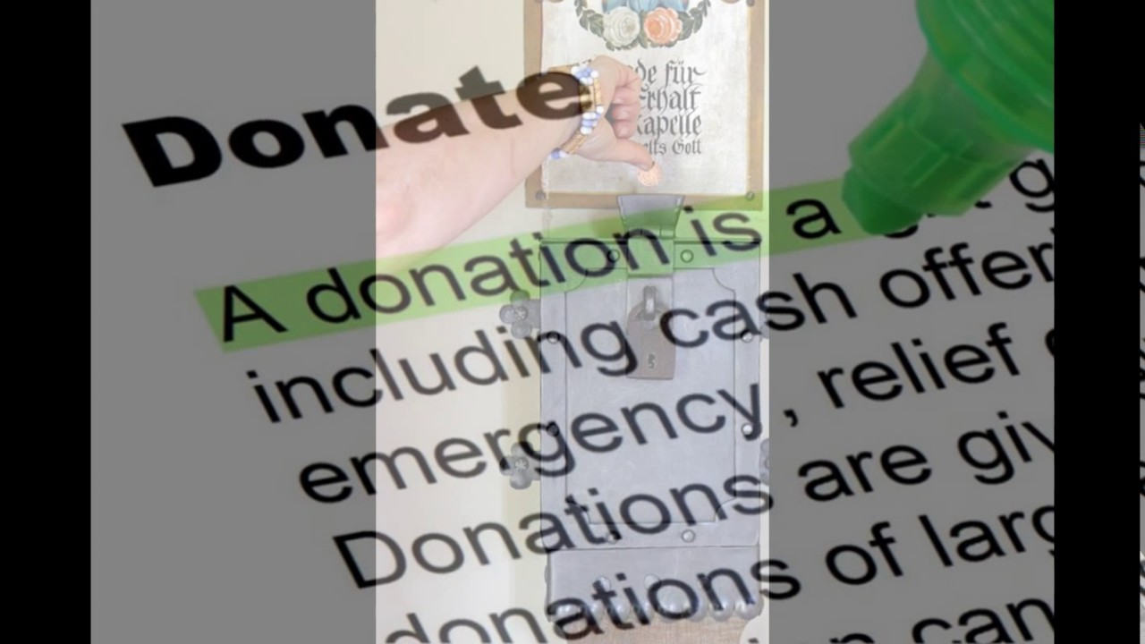 Definition Of Donate Youtube