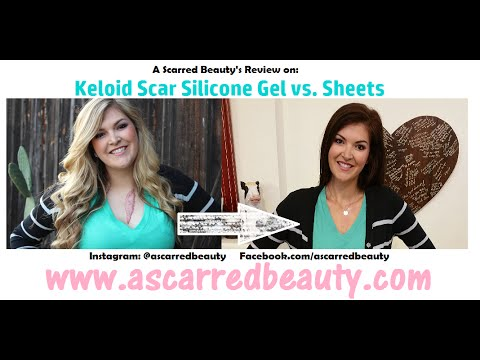 A Scarred Beauty Reviews Keloid Scar Silicone Gel Vs Sheets Youtube