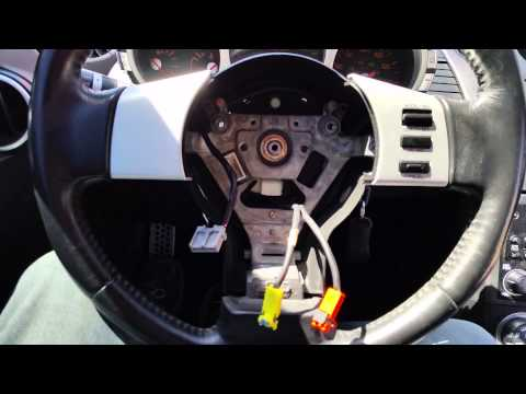 How to replace the driver side Airbag Nissan 350z