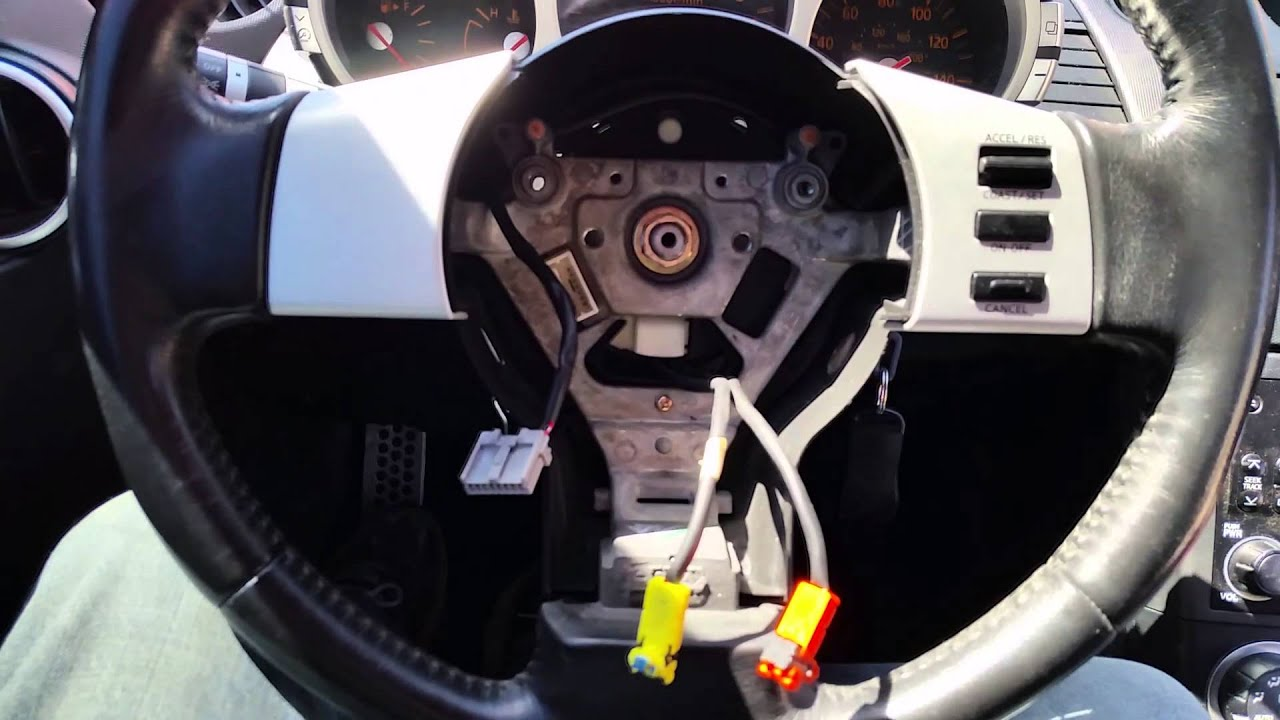 4 Wire Pigtail Diagram How To Replace The Driver Side Airbag Nissan 350z Youtube