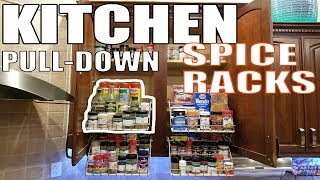 Pull Down Spice Rack Kitchen Organization Rubbermaid Youtube