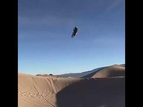 Sand Dune Dirt Bike Big Air Jump Youtube