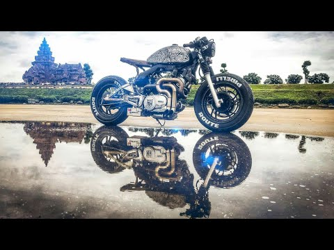 Yamaha XV750 Modified in Cafe Racer flyby