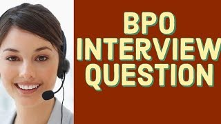 BPO Interview Question