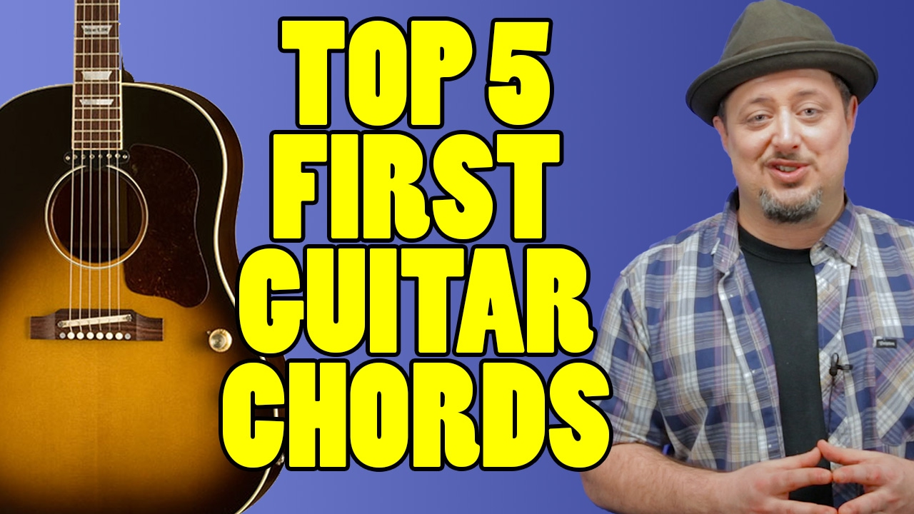 Top 5 First Guitar Chords Marty Music Youtube
