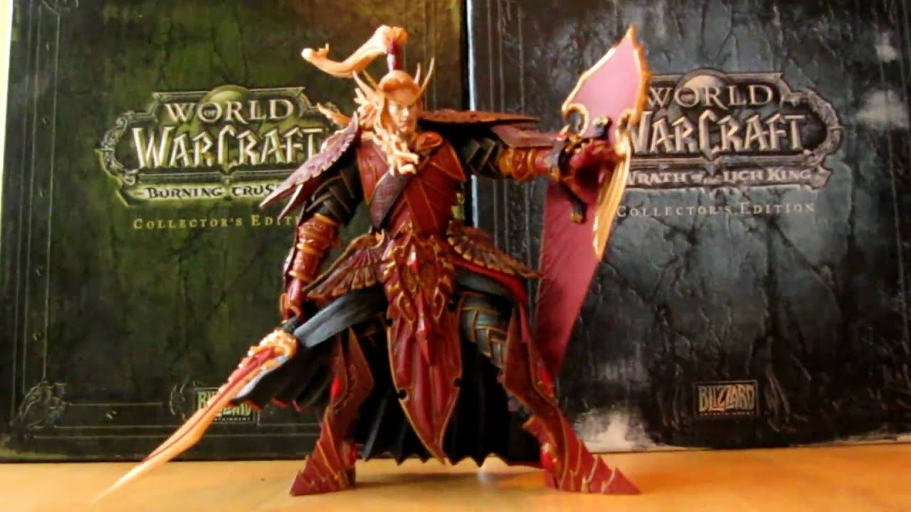 WOW WORLD OF WARCRAFT QUIN/'THALAN SUNFIRE BLOOD ELF PALADIN ACTION FIGURES