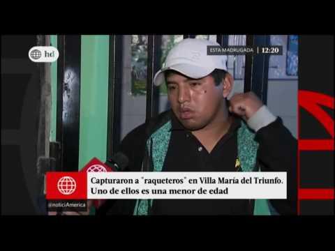 América Noticias - Edición Mediodia 16-05-2017 - Capturaron a raqueteros en Villa María del Triunfo