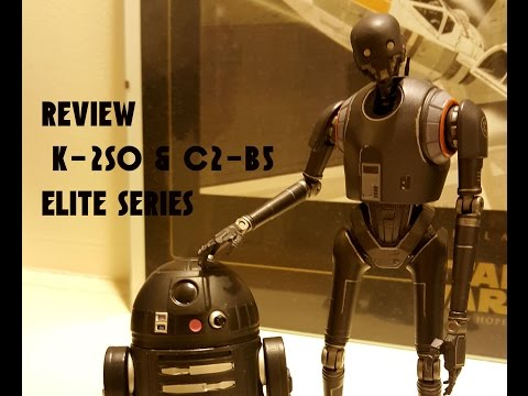 Star Wars Rogue One K-2SO and C2-B5 Elite series DIE CAST action figure
