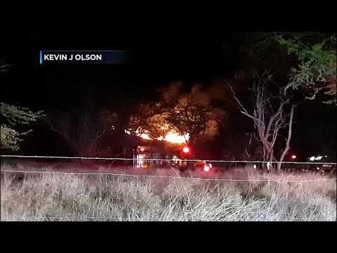 Evacuations ordered as large brush fire burns on Maui