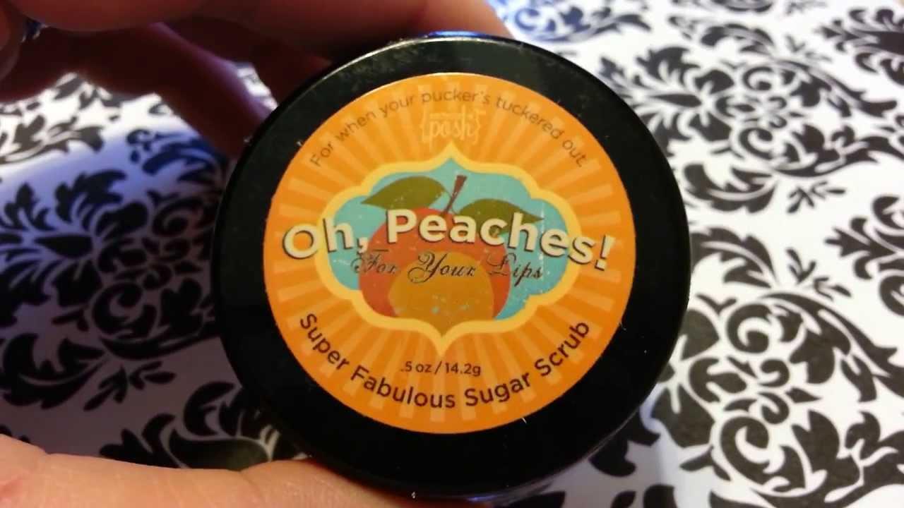 Perfectly Posh Oh Peaches Lip Scrub Review