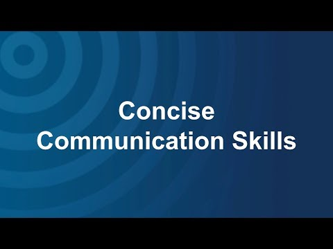 Concise Communication Skills