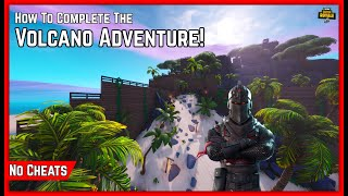 How To NO CHEAT The VOLCANO ADVENTURE! New Fortnite Creative Gamemode