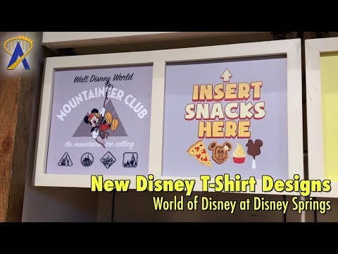 New T-Shirts Arrive at Re-Imagined World of Disney at Disney Springs