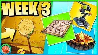 Magnifying Glass FOUND!! * FREE * Tier location! (Week 3 Challenges)-Fortnite: Battle Royale