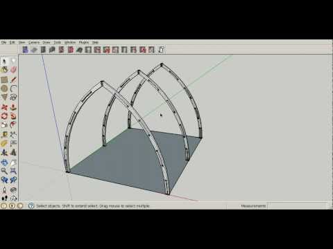 Gothic arch greenhouse plan tutorial 3 construction for Gothic greenhouse plans
