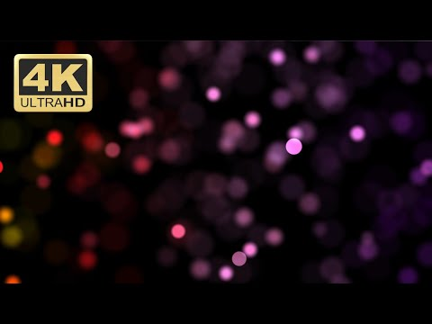 Motion Graphics Background Loop 4k - Colorful Bokeh Particles Blur Effect - Free Download