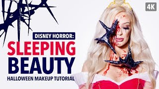 Disney horror: Sleeping beauty Halloween makeup tutorial