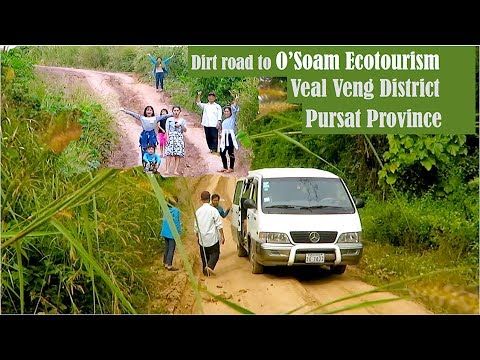 Dirt Road to O'Soam Ecotourism Community at Veal Veng District in Pursat Province Cambodia