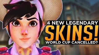 Overwatch: 4 NEW Legendary Skins! - World Cup Cancelled?