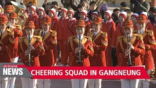 N. Korean cheering squad go sightseeing in Gangneung