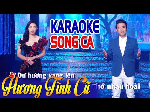 KARAOKE Hương Tình Cũ - Song Ca   Lê Sang & Mai Lệ Quyên
