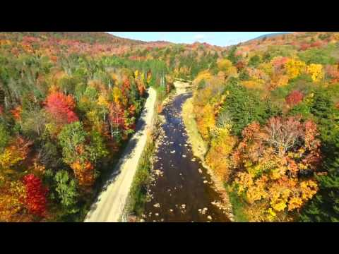 Autumn Maine Trip From Drone