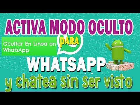 Chatea SIN APARECER EN LINEA EN WhatsApp 2018