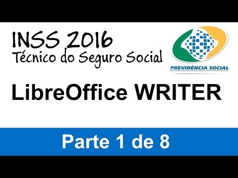 #01 - Concurso INSS 2016 - Técnico do Seguro Social - LibreOffice Writer