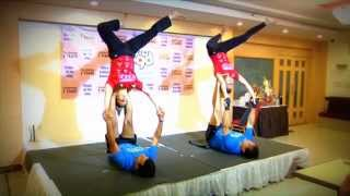 AcroYoga demonstration - 2nd Anniversary of Energizer Yoga