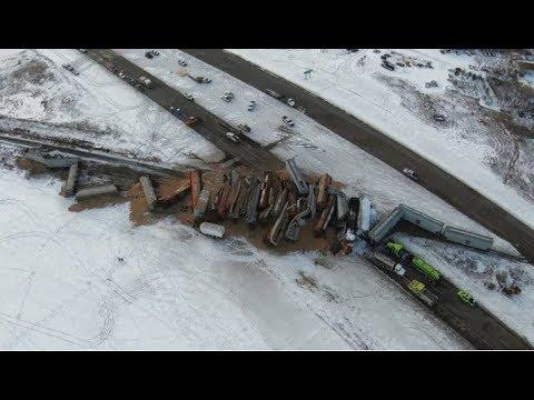 No injuries in major train derailment north of Saskatoon