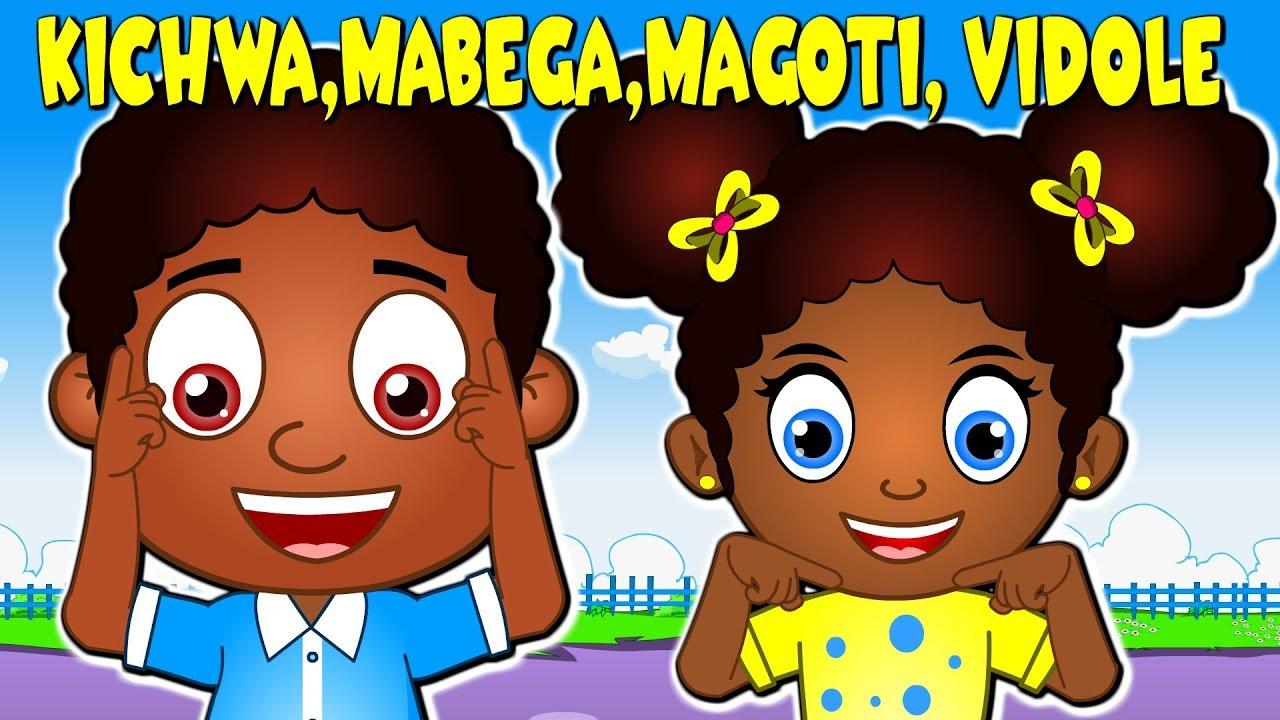 Download Kichwa Mabega Magoti Vidole | Kiswahili Head Shoulders Knees and Toes | Nyimbo za Kitoto