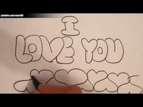 The gallery for --> Love In Bubble Letters