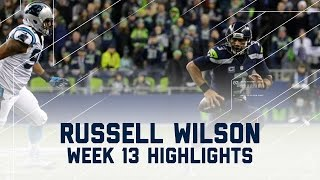 Russell Wilson Leads 'Hawks to Victory!   Panthers vs. Seahawks   NFL Week 13 Player Highlights