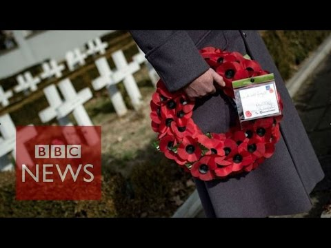 Armistice Day: How 11 places at the 11th hour marked the 2 minute silence - BBC News