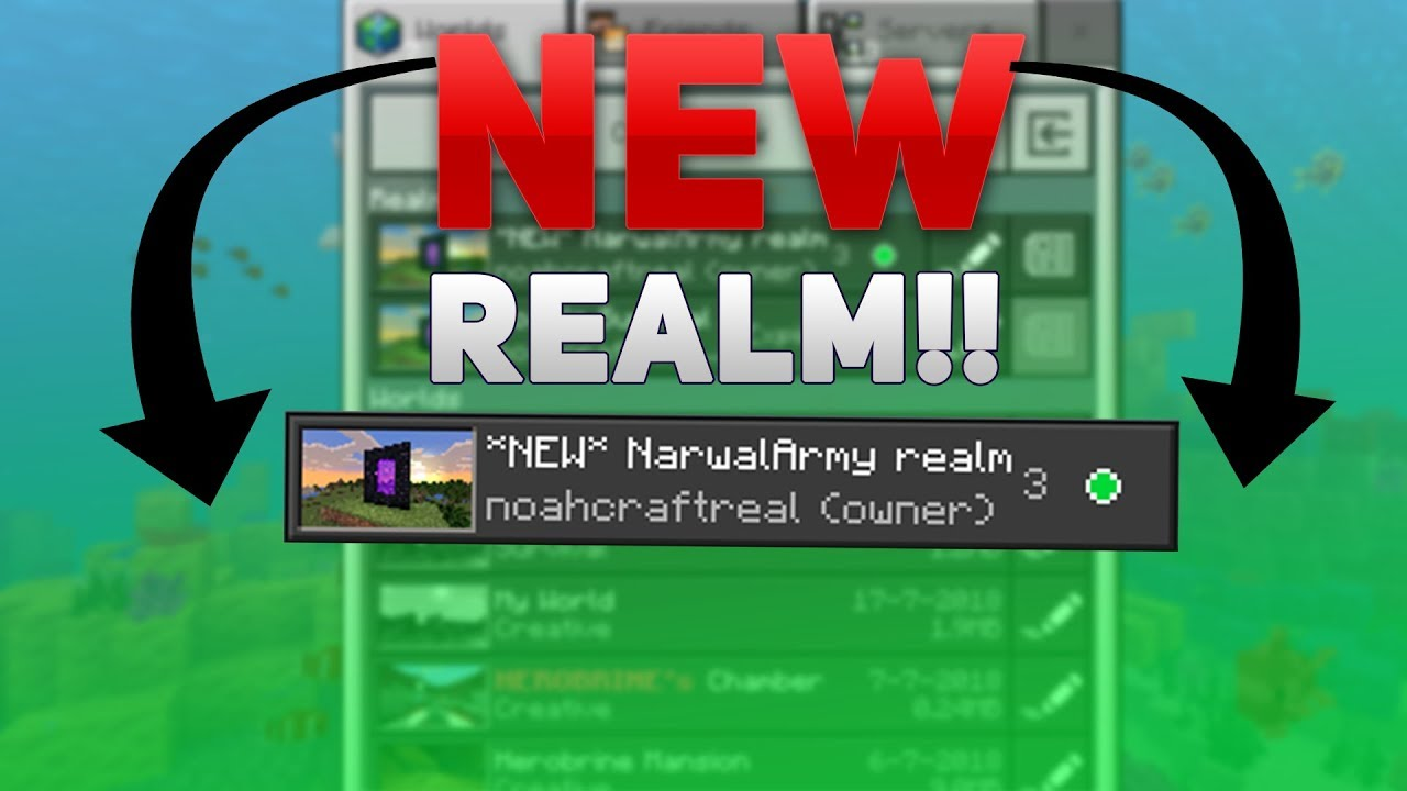 JOIN MY MCPE REALM!!! // Free realm code mcpe 1 5 2018!!!