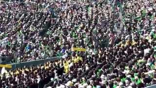 松山東高校校歌を甲子園で大合唱