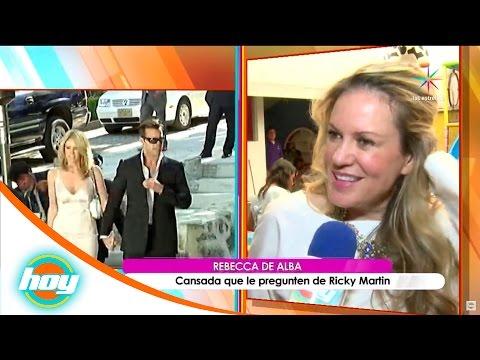 Rebecca de Alba, cansada de que le pregunten por Ricky Martín   Hoy