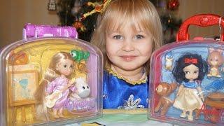 Обзор Куклы-Малышки Белоснежка и Рапунцель Дисней  Overview Dolls Snow White and Rapunzel Disney