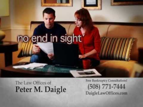 The Law Offices of Peter M. Daigle specializes in Chapter 13 and Chapter 7 bankruptcy laws, as well as foreclosure protection.