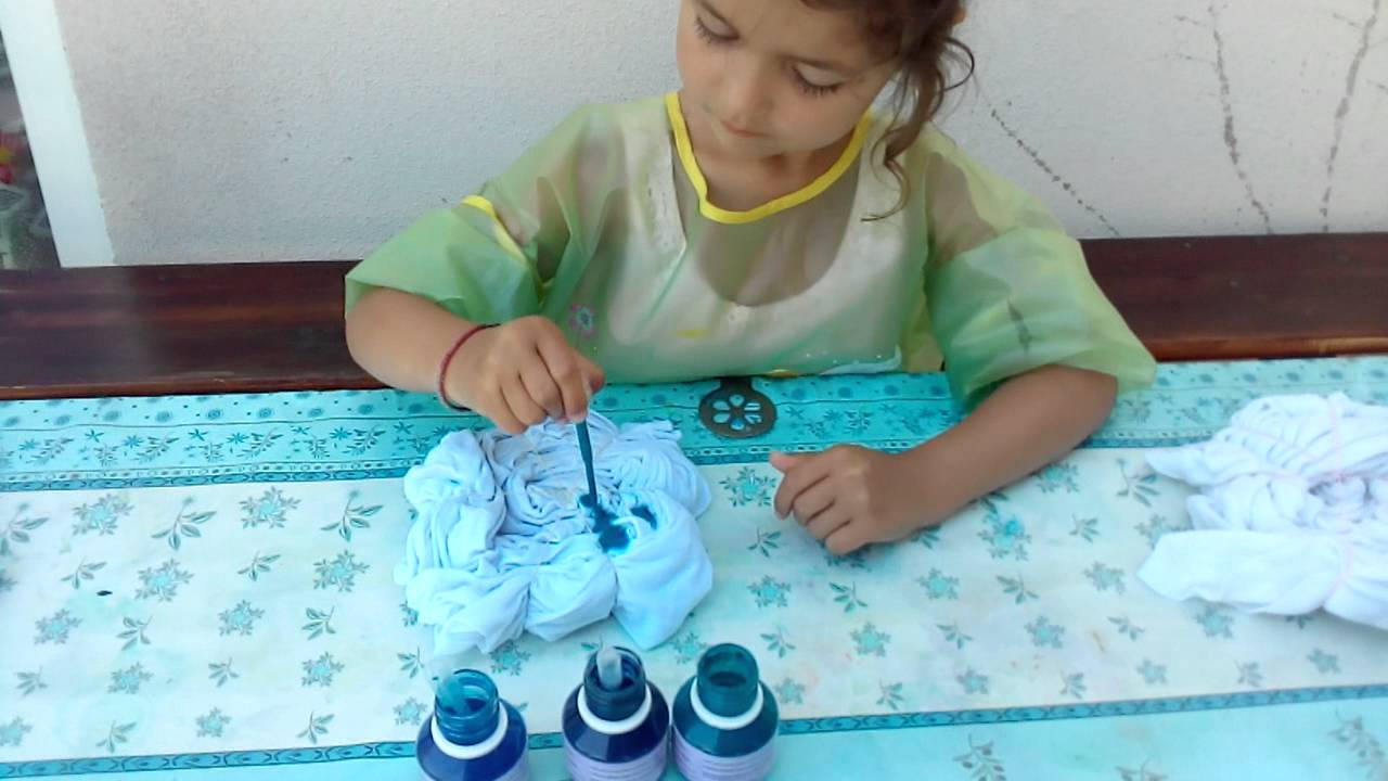 Tuto tie and dye avec la peinture arasilk par alyssonne youtube - Tuto tie and dye ...