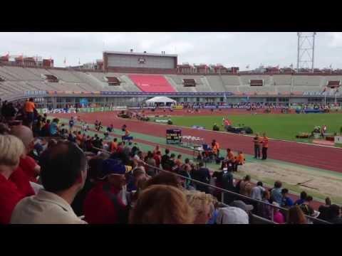 Amsterdam NK Atletiek Outdoor 2013 1e serie 800 meter mannen