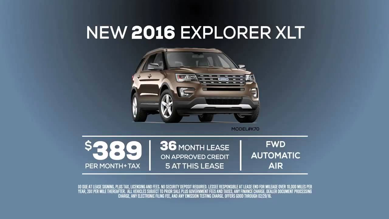 New 2016 Ford Explorer Xlt Lease Special Offer From Of Orange County