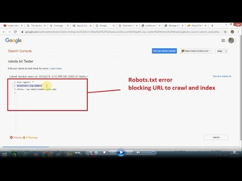 How To Fix Blocked URLs By Robots txt Error   Tutorial On Robots TXT File