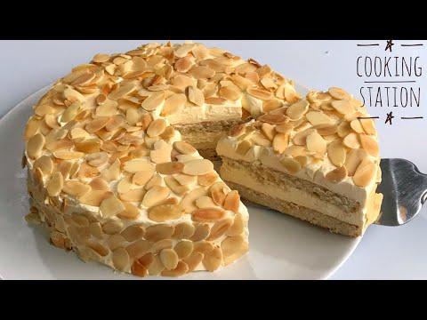 เค้กอัลมอนด์  สูตรเค้กไร้แป้ง ไม่ใส่น้ำมัน  | Gluten Free  Ikea Almond Cake Recipe
