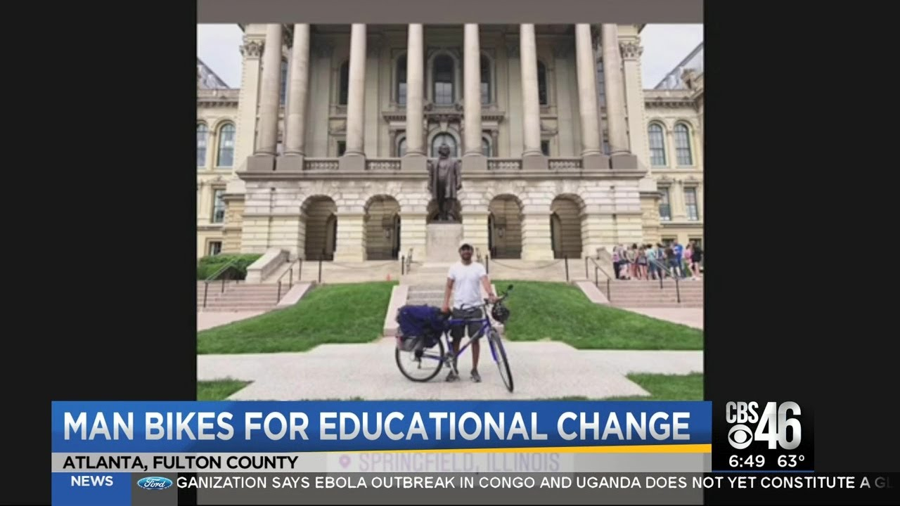 Atlanta man bikes for educational change