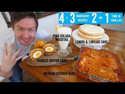 4 x 3 Ingredient recipes 2 try 1 time in your life! Part 4