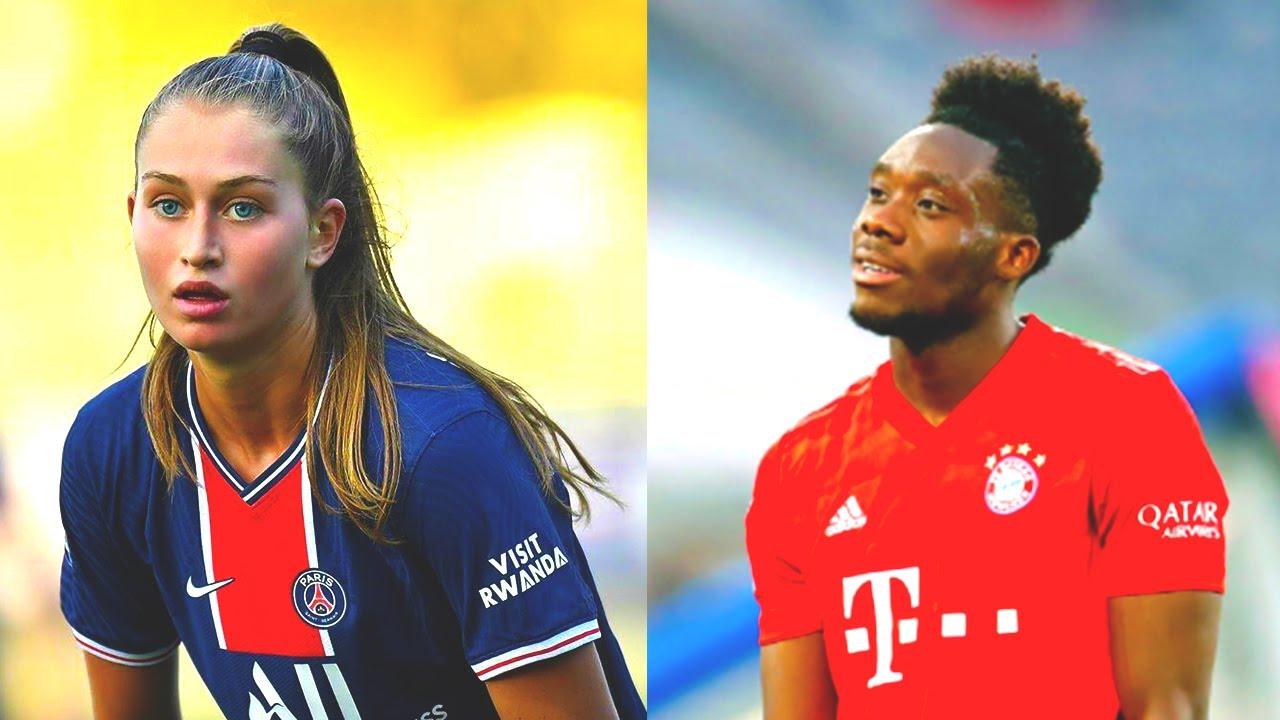 ALPHONSO DAVIES girlfriend - JORDYN HUITEMA - is a FOOTBALL MONSTER! She plays for PSG| Skills goals